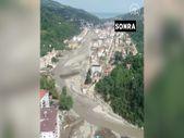 Selden önce drone ile kaydedilen Bozkurt, felaketinin ardından havadan yeniden görüntülendi