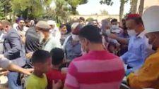 Şanlıurfa'da aşure dağıtımı sırasında izdiham