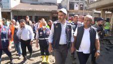 Bakan Kurum Bozkurt'ta selden etkilenen bölgelerdeki incelemelerine devam etti