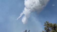 Heybeliada'daki yangına havadan müdahale