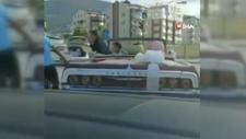 Bursa'da bahşiş için otomobilin peşini bırakmadı, damadı çıldırttı