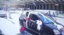 Bursa'da direksiyona geçen çocuk sürücü ortalığı birbirine kattı