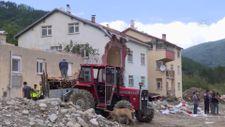 Sel felaketinin yıktığı Babaçay köyü sakinlerinden evlerine veda