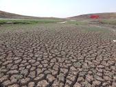 Hacıhıdır Barajı'nda su seviyesi düştü