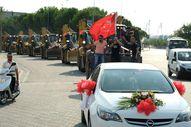 Manisa'da 11 kepçelik düğün konvoyu