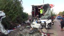 Mersin'de otobüs şarampole yuvarlandı