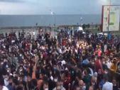 Trabzonsporlular stada biletsiz girmek için bekledi