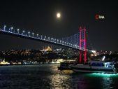 İstanbul'da dolunay manzarası mest etti