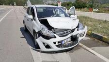 Karabük'te, sürücü adayının otomobiline çarptı: 5 yaralı