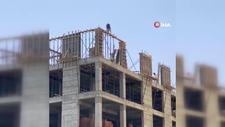 Diyarbakır'da inşaat işçileri tehlikeye davet çıkardı