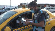 Eminönü'nde sivil ekiplerden taksilere yönelik denetim