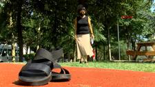 Küçükçekmece'de yeni aldığı ayakkabı ayağında yaralar oluşturdu