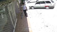 Osmaniye'de bisiklet hırsızı kamerada