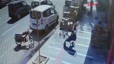 Şanlıurfa'da hareket eden bebek arabasını yakaladı