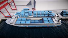 Dünyanın ilk elektrikli kargo gemisi suya iniyor
