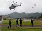 Meksika Donanması'na ait helikopter iniş yaptığı sırada düştü