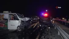 Tekirdağ'da otomobil ters yöne girdi: 1 ölü, 5 yaralı