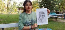 Afganistan'dan kaçan Nazila, resim çizerek hayata tutunuyor