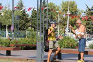 Antalya'da yasak dinlemeyen İtalyan paraşütçünün zor anları