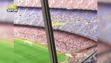 Barcelona taraftarı PSG'ye küfür etti
