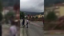 Bozkurt Belediye Başkanı Muammer Yanık'ın selden kurtulduğu görüntüler