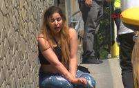 Taksim'de sinir krizi geçiren turist kadın