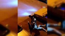 Antalya'da taciz şüphelisini yere yatırıp tekme tokat dövdüler