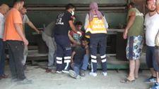 Ayancık'ta tamirat yapan işçi fabrikanın çatısından düştü
