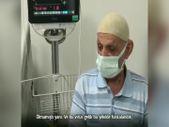 Bakan Koca, aşısız eşinin coronavirüs mücadelesini kazanmasını bekleyen vatandaşın görüntülerini paylaştı