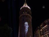 Galata Kulesi'nde 30 Ağustos Zafer Bayramı'na özel ışık gösterisi yapıldı