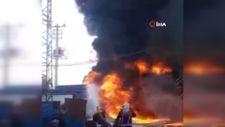 Manisa'da plastik kasa fabrikasında yangın
