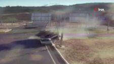 Elazığ'da kamyon ile otomobilin çarpışma anı kamerada