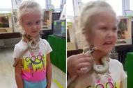 Rusya'da hayvanat bahçesinde küçük kızı zehirli yılan ısırdı