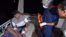 ATV'lerle caretta caretta yavrularını ezip, gönüllüyü de yaraladılar