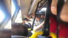 Esenyurt'ta minibüste maskeyi yanlış takan kadına hakaret
