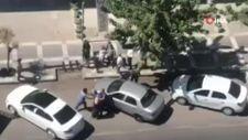 Şanlıurfa'da, sopalı kavga kamerada