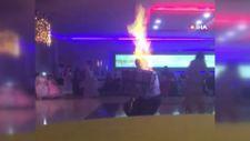 Şanlıurfa'da şov yapan davulcu kendini yaktı