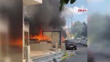 Şişli'de konteyner yangını