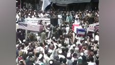 Taliban, ABD, İngiltere ve Fransa bayraklı cenaze töreni düzenledi
