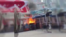 Balık lokantasındaki tüp alev alınca yangın çıktı