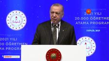 Cumhurbaşkanı Erdoğan: Avrupa'da son 20 yılda öğretmen maaşlarını en çok iyileştiren ülke Türkiye