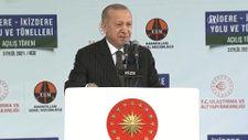 Cumhurbaşkanı Erdoğan, İyidere-İkizdere yolu açılış törenine katıldı