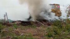 Sinop'ta çalılık alanda çıkan yangın, ormanlık alana sıçramadan söndürüldü