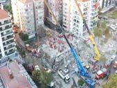 İzmir depreminde yıkılan Rızabey Apartman'ı havadan görüntülendi
