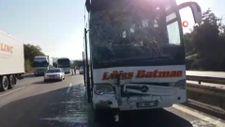 TEM'de 7 aracın karıştığı zincirleme kaza