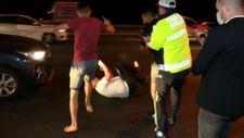 Ümraniye'de kazaya sebep olan alkollü sürücü dayak yedi