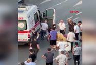 Sarıyer'de yolun karşısına geçmeye çalışan kadına otomobil çarptı