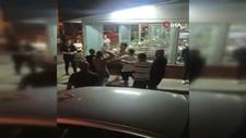 Aydın'da 2 ailenin restorandaki bıçaklı kavgası kamerada