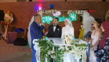 Bursa'da 11 yıl önce 23 Nisan'da koltuğuna oturan gencin nikahını kıydı