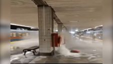 Aksaray metro istasyonu sular altında kaldı